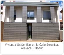 PROYECTO BÁSICO Y DE EJECUCIÓN DE LAS OBRAS DE SUSTITUCIÓN DE EDIFICACIÓN RESIDENCIAL POR VIVIENDA UNIFAMILIAR, EN LA CALLE BERENISA EN ARAVACA – MADRID.