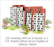 CONCURSO CON INTERVENCIÓN DE JURADO: 132 VIVIENDAS VPPA EN LA PARCELA 11.1 PLAN PARCIAL NUESTRA SEÑORA DE LOS ÁNGELES EN VALLECAS – MADRID.