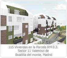 """CONCURSO DE 115 VIVIENDAS CON PROTECCIÓN PÚBLICA BÁSICA (VPPB) DEL SECTOR 11 """"VALENOSO"""" DE BOADILLA DEL MONTE – MADRID. PARCELA RM-9.3."""