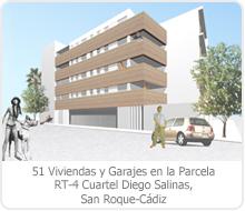 FINALISTAS EN EL CONCURSO DE ARQUITECTURA DE 51 VIVIENDAS Y GARAJES EN LA PARCELA RT-4 CUARTEL DIEGO SALINAS, SAN ROQUE -CÁDIZ.