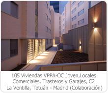 105 VPPA–OC JOVEN, LOCALES COMERCIALES, TRASTEROS Y GARAJE, PARCELA C2, LA VENTILLA, TETUÁN – MADRID.