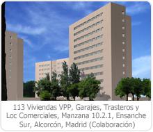 113 VPP, GARAJES, TRASTEROS Y LOCALES COMERCIALES, MANZANA 10.2.1, ENSANCHE SUR, ALCORCÓN – MADRID.