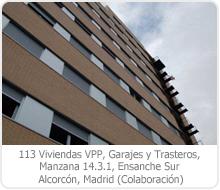 113 VPP, GARAJES Y TRASTEROS, MANZANA 14.3.1, ENSANCHE SUR, ALCORCÓN –  MADRID.