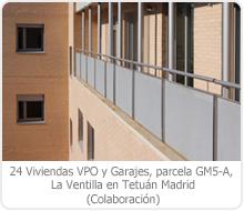 24 VPO Y GARAJE, PARCELA GM5–A, LA VENTILLA, TETUÁN – MADRID.
